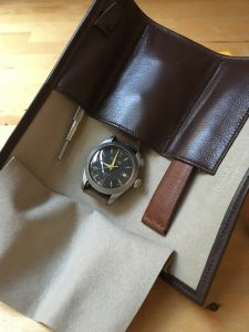 Inside the Dennison watch case